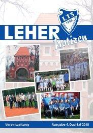 LTS Heft 4/2010 - Leher Turnerschaft von 1898