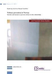 Violence prevention in Norway - Nasjonalt kunnskapssenter om vold ...