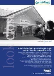 Somerfield and PRG-Schultz develop partnership for mutual benefit.