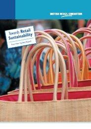 Towards Retail Sustainability - British Retail Consortium