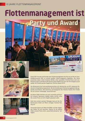 Party und Award Flottenmanagement ist 10! - Flotte.de