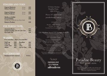 Paradise Beauty - Beautyandspas.com.au