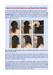 Some very nice Info About Low cost Head of hair Extensions