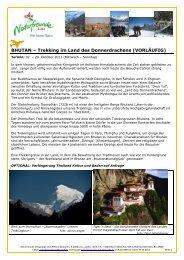 Bhutan 2013 Detailprogramm - Linz - Naturfreunde