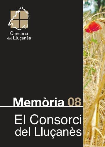 Memòria del Consorci del Lluçanès (2008) (pdf. 1500kb)
