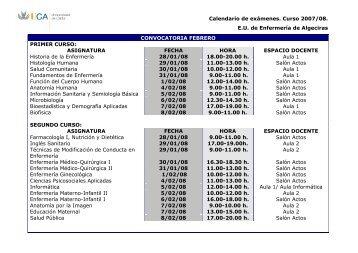 Diplomatura de Enfermería en Algeciras - Departamentos