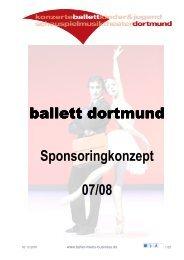 ballett dortmund Sponsoringkonzept 07/08 - ballet meets business