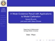 A Weak Existence Result with Applications to Model Calibration ...