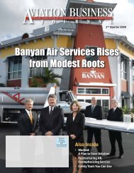 Banyan Air Services Rises from Modest Roots - NATA