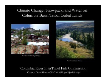 Climate Change, Snowpack, and Water on Columbia ... - CRITFC