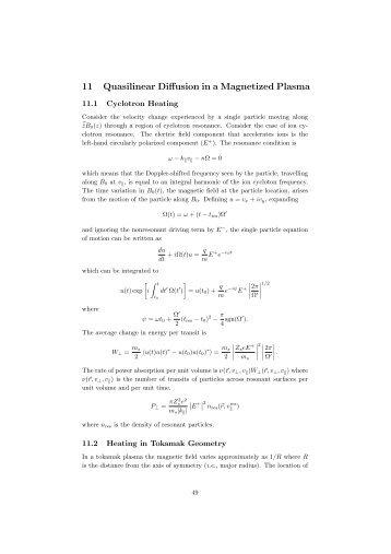 11 Quasilinear Diffusion in a Magnetized Plasma