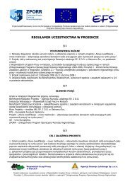 regulamin uczestnictwa w projekcie - Agencja Rozwoju Lokalnego ...
