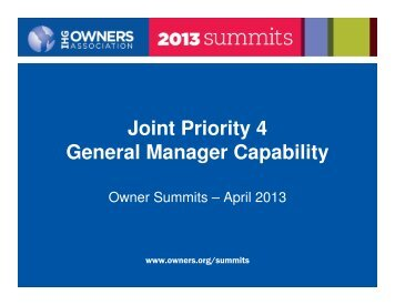 GM Program - IHG Owners Association
