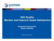 IHG Quality Monitor and Improve Guest Satisfaction Presented ...