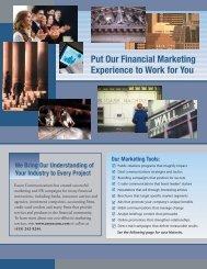 Financial services - Eason Communications