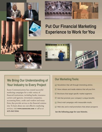 Financial emailer - Eason Communications
