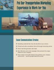 Transportation logistics - Eason Communications