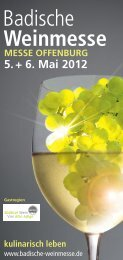 5. + 6. Mai MESSE OF Weinmesse - Winzerverein Oberrotweil e.G.