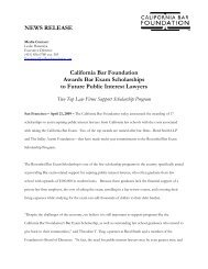 April 21, 2009 - California Bar Foundation