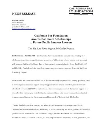 April 21, 2009 - California Bar Foundation