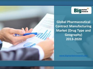 2020 Analysis on Pharmaceutical Contract Manufacturing Market