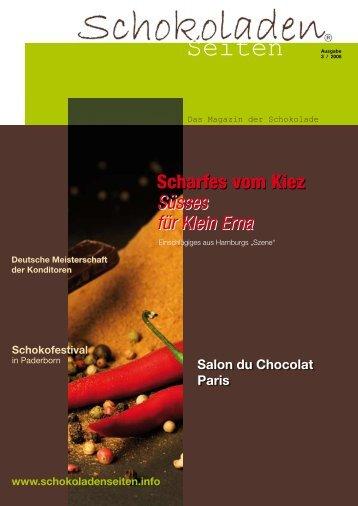 Seiten - Schokoladenseiten - das Magazin der Schokolade