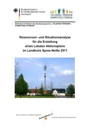 Situations- & Ressourcenanalyse des Landkreises Spree-Neisse 2011