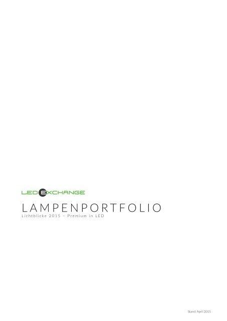 LEDeXCHANGE Lampenportfolio 2015
