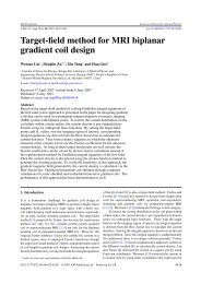 Target-field method for MRI biplanar gradient coil design