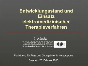 Entwicklungsstand und Einsatz elektromedizinischer ... - LVS/PR