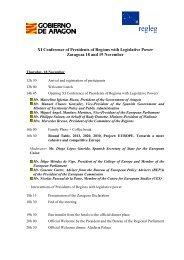 Agenda XI Conference of Presidents EN - RegLeg
