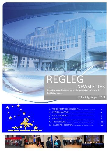 Newsletter Nº3: July/August 2011-EN - RegLeg