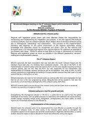 REGLEG contribution to the 5th Progress report on economic and ...