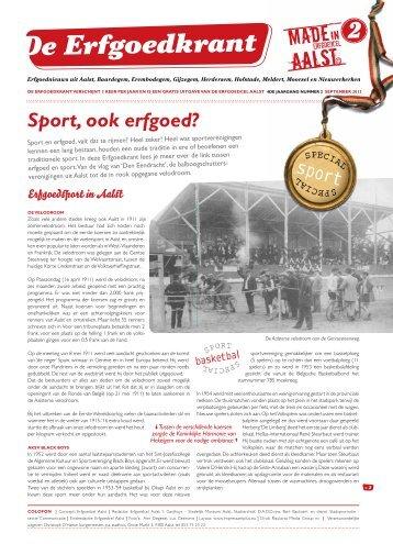 2 de erfgoedkrant september 2013 - Erfgoedcel Aalst