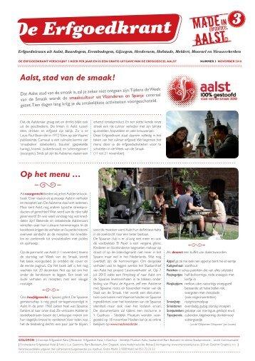 De Erfgoedkrant nr. 3 - Erfgoedcel Aalst
