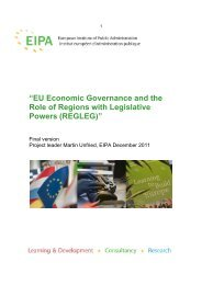 """EU Economic Governance and the Role of Regions with ... - RegLeg"