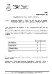 DELIBERAZIONE DELLA GIUNTA COMUNALE ... - Città di Seriate
