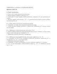 TOPOLOGIA 1, wyk ladowca STANIS LAW BETLEY Egzamin, 26.01 ...