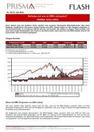 Flash Nr. 03-2010 PRISMA Aktien BRIC - PRISMA Anlagestiftung