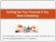 Sorting Out Your Finances If You Were Cohabiting