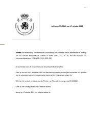 Adviesaanvraag betreffende het voorontwerp van Koninklijk besluit ...