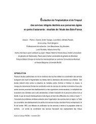 Évaluation de l'implantation et de l'impact des services ... - Prisma