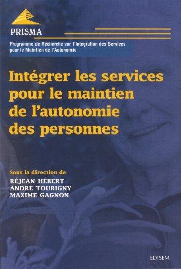 Intégrer les services pour le maintien de l'autonomie des ... - Prisma