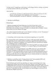 verslag 08e bestuursvergadering 10 juli 2008 - De Haagse Scholen
