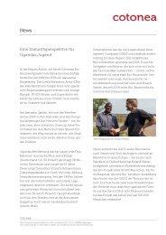 Cotonea: Eine Zukunftsperspektive für Ugandas Jugend