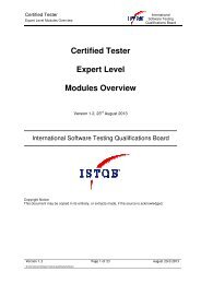 Expert Level Overview document - istqb