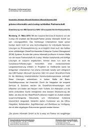 prisma informatik und d.velop schließen Partnerschaft