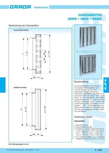 SANDFANGGITTER GB900 • IB900 • WB900 - Grada.be
