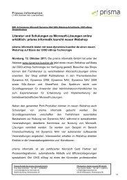prisma informatik launcht neuen Webshop