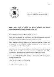 Advies inzake het ontwerp van decreet betreffende het Centraal ...